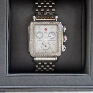 MICHELE Diamond Deco Watch- Mother of Pearl Face